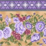 Giselle Garden Trellis Borderstripe  Honey 947-2