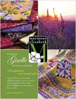 The Giselle HONEY Amaretto Cottage Quilt Pattern-Complete BOM