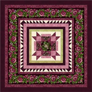 HARLOW COUNTRY Quilt Top Kit BURGUNDY
