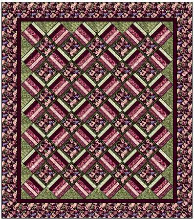 Aspen Twist Complete Quilt Kit: Full Size: BLACK