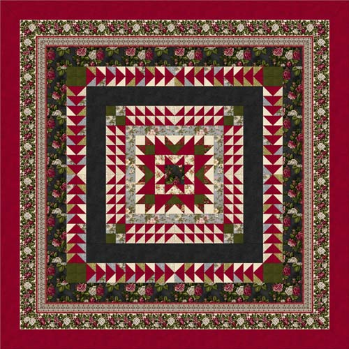Love & Joy  Quilt Top Kit  (Red/black)