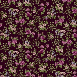 "Harlow: Hollywood Stars fabric in the color ""Wild Currant"" Red 2227-03"