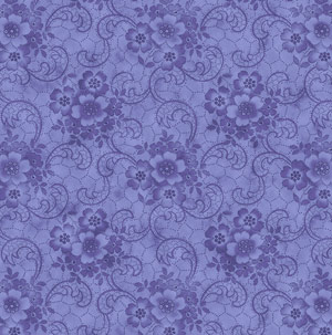 "Harlow: Glamour Girls fabric in the color ""Delphinium"" Purple 2231-05"