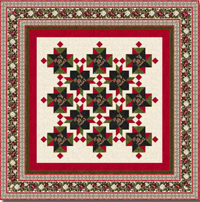 Tatiana's Treasure Complete Quilt Kit- Red