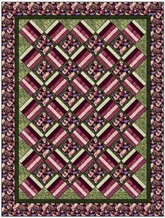 Aspen Twist Quilt Top Kit: Twin Size:  BLACK