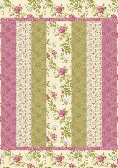 Sweet Dreams Quilt Top Kit CREAM-PINK