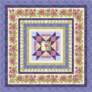 HARLOW COUNTRY Quilt Top Kit COTTAGE WHITE