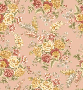 OUT OF PRINT Laurel Cottage Bouquet Apricot 1173-73