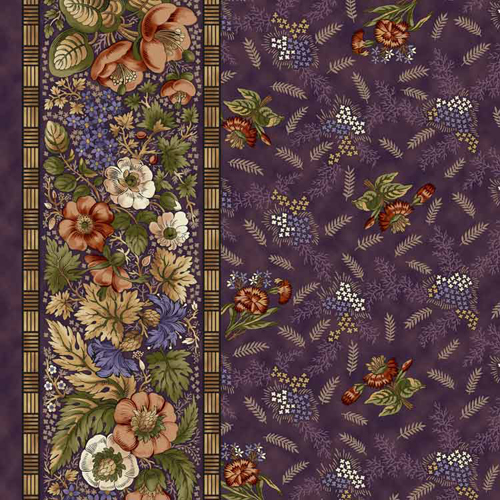 Meadow Blossom Stripe Plum 1312-02