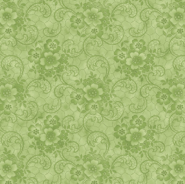"Harlow: Glamour Girls fabric in the color ""Willow"" Green 2231-03"