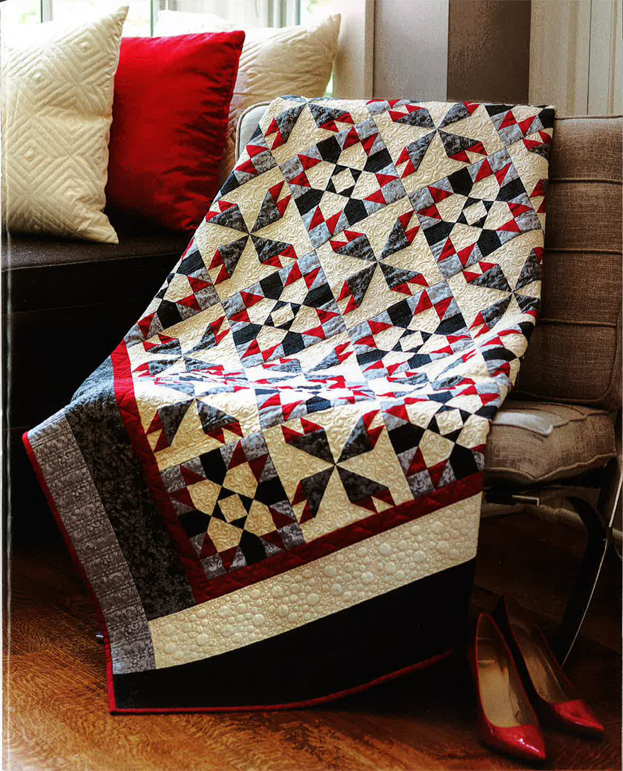 Black Tie Quilt Top Kit ( Throw)
