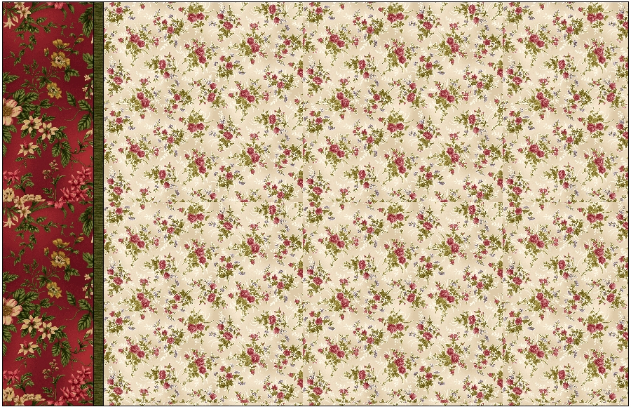 Rose Apple Cottage Sham Kit (makes 2)