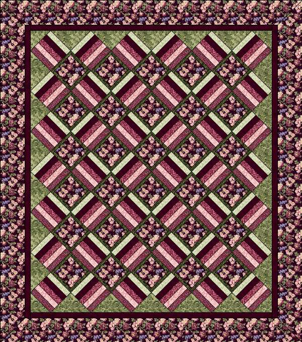 Aspen Twist Quilt Top Kit: Full Size: BURGUNDY