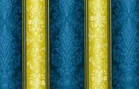 SOLD OUT: Tuilleries Damask Stripe in Gold & Blue