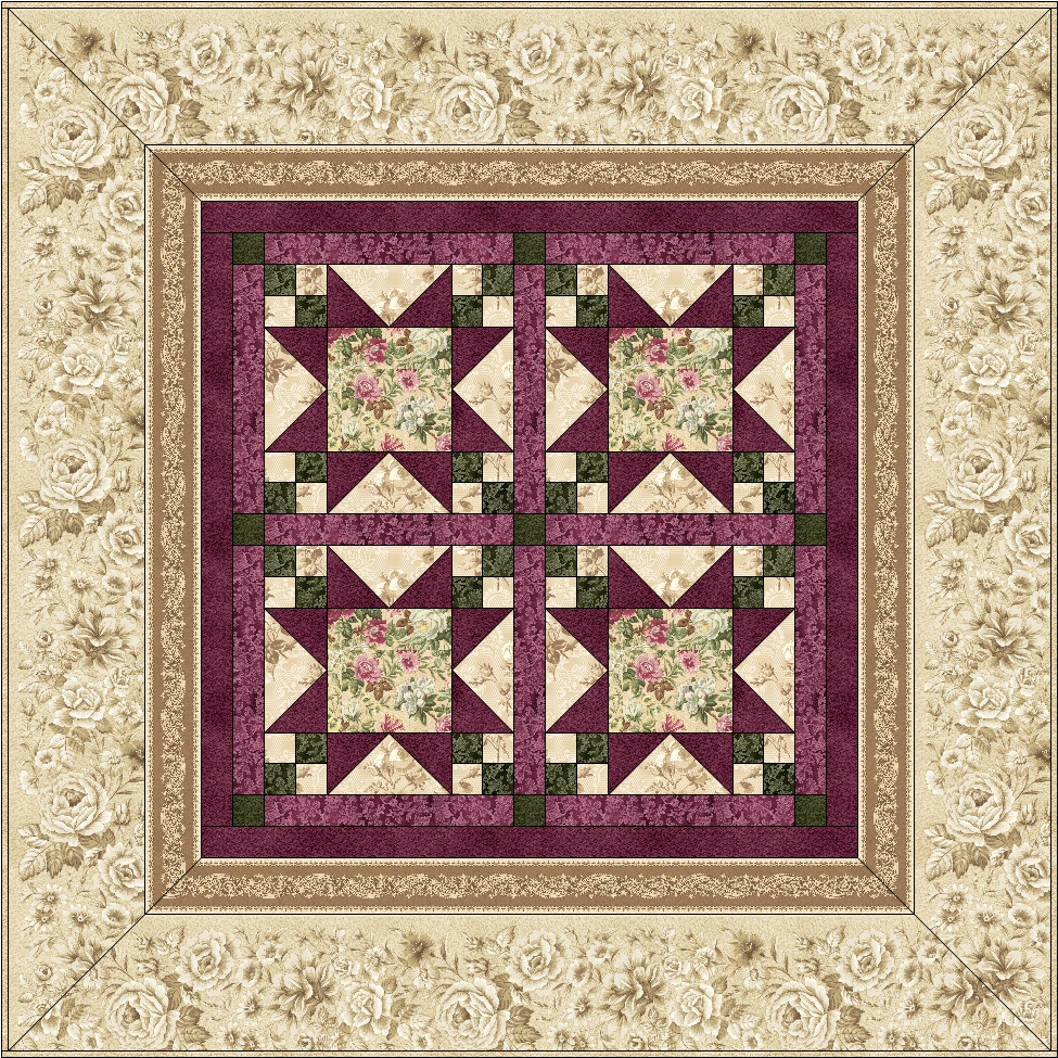 Highland Rose Quilt Pattern