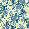 OUT OF PRINT Ferndale Damask Cream & Azure Blue 2751-05