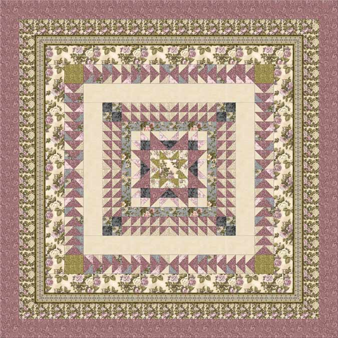 Love & Joy Quilt Pattern Mauve