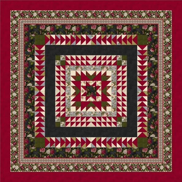 Love & Joy  Quilt Pattern Red/Black