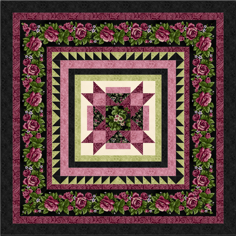 HARLOW COUNTRY COMPLETE Quilt Kit MIDNIGHT BLACK