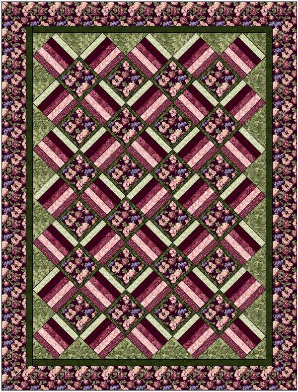 Aspen Twist Complete Quilt Kit: Twin Size: NEW BURGUNDY